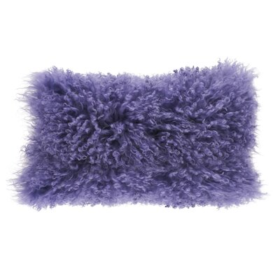 Becky Fur Lumbar Pillow Color: Ultra Violet
