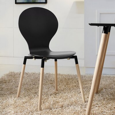 Downridge Solid Wood Dining Chair Finish: Black