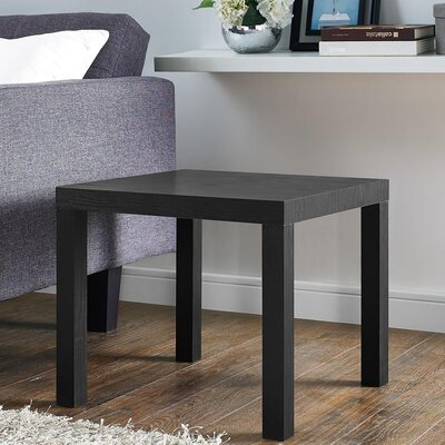 Carissa End Table Color: Black