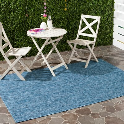 Mullen Navy Indoor/Outdoor Area Rug Rug Size: Rectangle 2 x 37