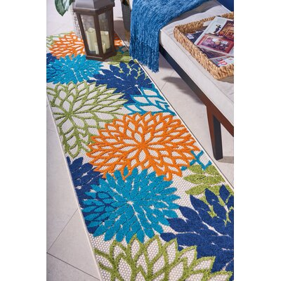 Nathalie Cream Indoor/Outdoor Area Rug Rug Size: Runner 23 x 8