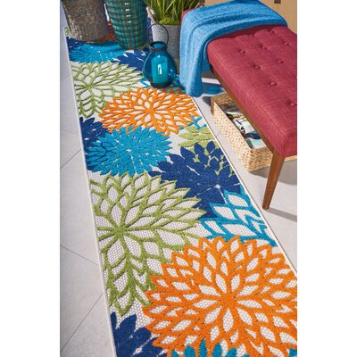 Nathalie Cream Indoor/Outdoor Area Rug Rug Size: Runner 23 x 10
