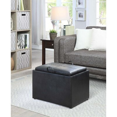 Marla Storage Ottoman Upholstery: Black
