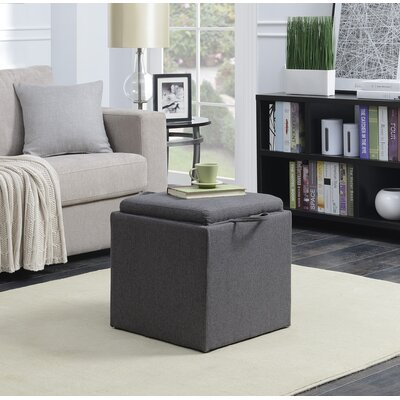 Marla 2 Piece Cube Ottoman Set Upholstery: Soft Gray