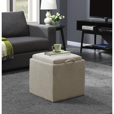 Marla 2 Piece Cube Ottoman Set Upholstery: Soft Beige