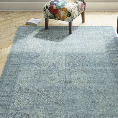 Todd Vintage Turquoise Area Rug Rug Size: Rectangle 27 x 4