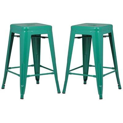 Alyssa 24 Bar Stool Color: Dark Green