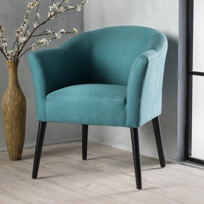 Magnus Barrel Chair Upholstery: Dark Teal