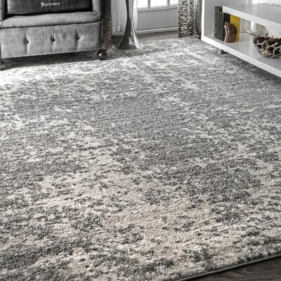 Bloom Gray Area Rug Rug Size: Rectangle 67 x 9