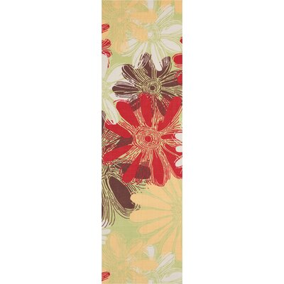 Avis Brown/Green/Red Indoor/Outdoor Area Rug Rug Size: Runner 23 x 8