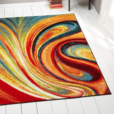 Peyton Multi-Colored Area Rug Rug Size: Rectangle 92 x 125