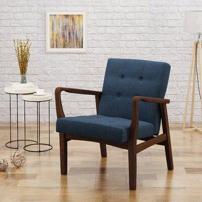Milanna Armchair Upholstery: Navy Blue