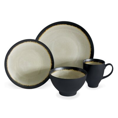 Galaxy Coupe 16 Piece Dinnerware Set, Service for 4 galac16s