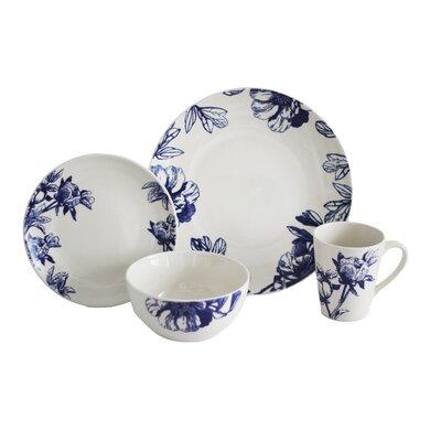 Botanical 16 Piece Dinnerware Set, Service for 4 BOT16B