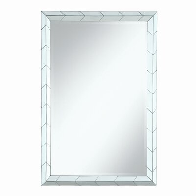 Chevron Pattern Wall Mirror