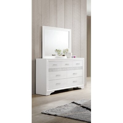 Alessandra 7 Drawer Dresser with Mirror