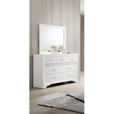 Alessandra 7 Drawer Dresser with Mirror