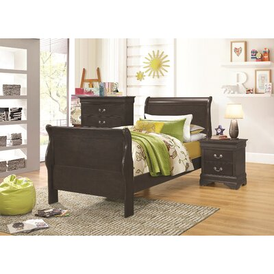 Allenville Sleigh Bed Size: Twin, Finish: Dark Gray