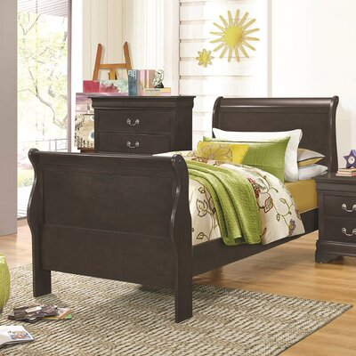 Allenville Sleigh Bed Size: Full, Color: Dark Gray
