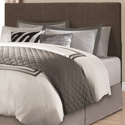 Dianna Queen Upholstered Panel Headboard Upholstery: Brown