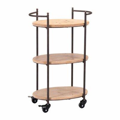 Bungalow Rose Sheraden Tri Level Bar Cart