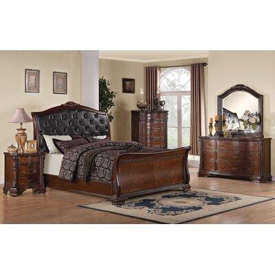 Wildon Home Martone Sleigh Bed - Size: King