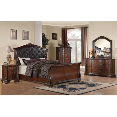 Martone Sleigh Customizable Bedroom Set