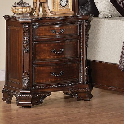 Martone 3 Drawer Nightstand