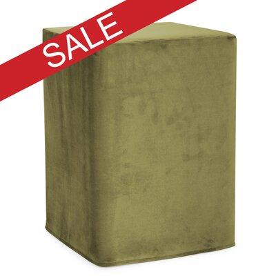 Hoelscher Tall Block Bella Ottoman Upholstery: Moss