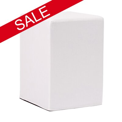 Hoelscher Tall Block Bella Ottoman Upholstery: White