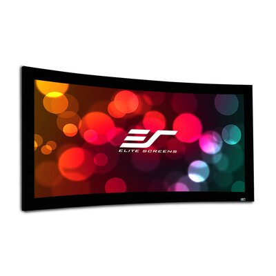Lunette Series Matte White Fixed Frame Projection Screen Viewing Area: 110 Diagonal
