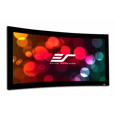 Lunette Series Matte White Fixed Frame Projection Screen Viewing Area: 176 Diagonal
