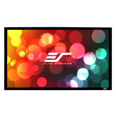 Sable235 White Fixed Frame Projection Screen Viewing Area: 115 Diagonal