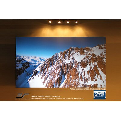Aeon Series Grey Fixed Frame Projection Screen Viewing Area: 53.9 H x 95.9 W