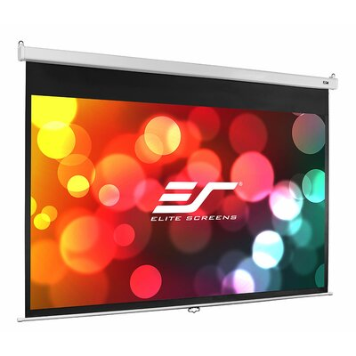 Manual SRM Pro Series White Manual Projection Screen Viewing Area: 84 diagonal