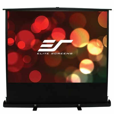 ezCinema Plus Series White Portable Projection Screen Viewing Area: 100 diagonal