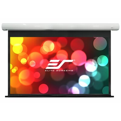 Saker White Electric Projection Screen Viewing Area: 120 Diagonal 16:10, 12 Drop