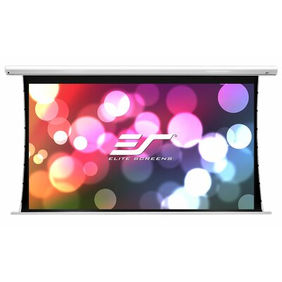 Saker Tab-Tension Series White Electric Projection Screen Viewing Area: 110 Diagonal