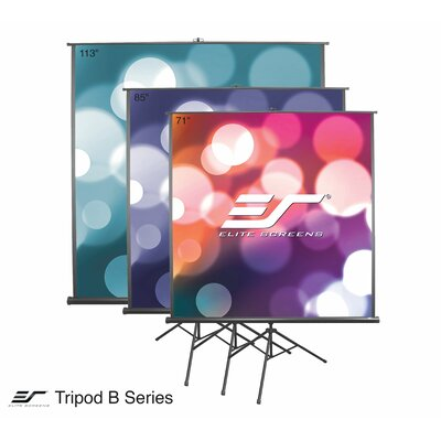 Tripod B White Portable Projection Screen Viewing Area: 113 Diagonal 1:1