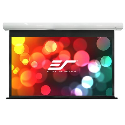 Saker White Electric Projection Screen Viewing Area: 84 Diagonal 16:9, 24 Drop