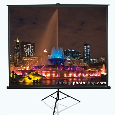 Tripod Series White Portable Projection Screen Viewing Area: 120 Diagonal 16:9
