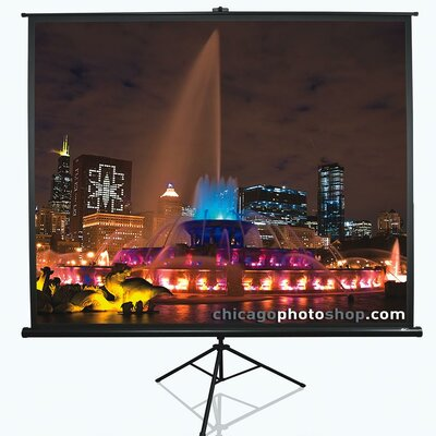 Tripod Series White Portable Projection Screen Viewing Area: 120 Diagonal 4:3