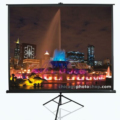 Tripod Series White Portable Projection Screen Viewing Area: 113 Diagonal 1:1