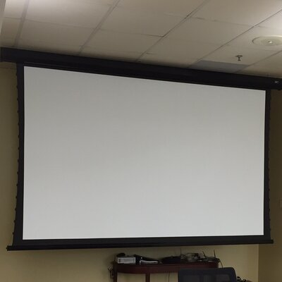 CineTension2 White Electric Projection Screen Viewing Area: 100 diagonal