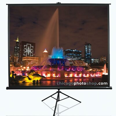 Tripod Series White Portable Projection Screen Viewing Area: 60 Diagonal 16:9