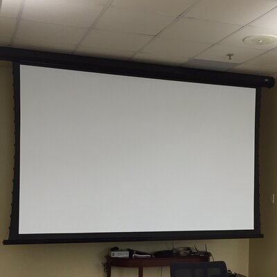 CineTension2 White Electric Projection Screen Viewing Area: 128 diagonal