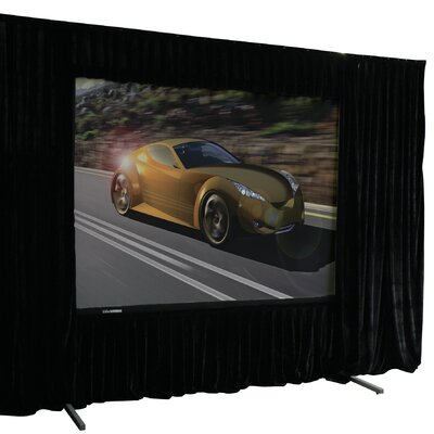 QuickStand Drape Series Black Fixed Frame Projection Screen Viewing Area: 180 diagonal