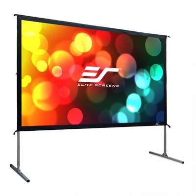 YardMaster2 White Portable Projection Screen Viewing Area: 120 diagonal, 16:9