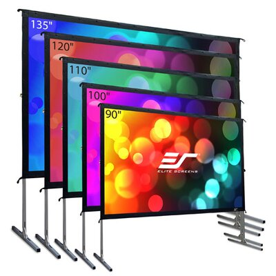 YardMaster2 White Portable Projection Screen Viewing Area: 90 Diagonal