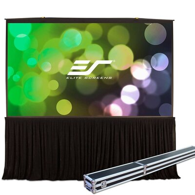 QuickStand White Portable Projection Screen Viewing Area: 180 Diagonal